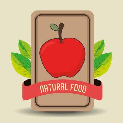 Naklejka Naturalna żywność g produktu