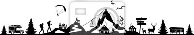 Naklejka Nature Landscape Mountain Sport Vector
