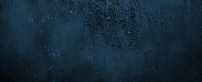 Naklejka Navy Blue Cement Background. Old Dark blue background. Blue wall texture