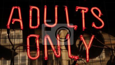 Naklejka Neon tylko dla dorosłych