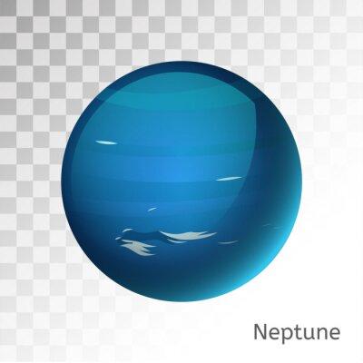 Naklejka Neptune planeta ilustracji 3d wektor