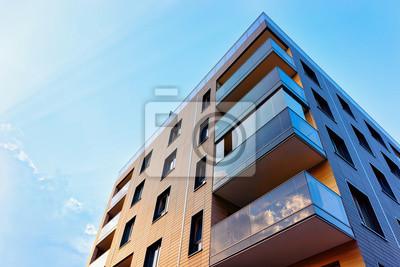 Naklejka New modern apartment building exterior