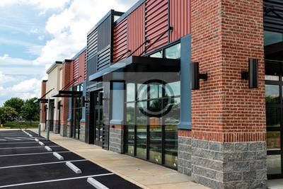 Naklejka New Shopping Strip Center Almost Ready to Open