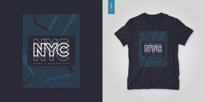 Naklejka New York City. T-shirt geometric vector design, poster, print, template
