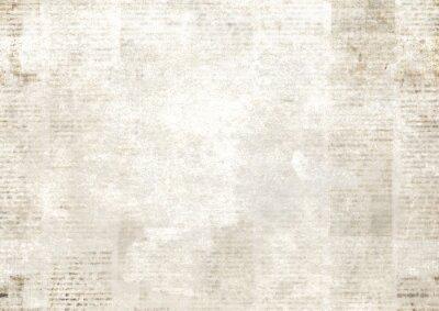 Naklejka Newspaper with old grunge vintage unreadable paper texture background