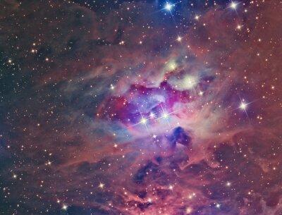 Naklejka NGC 1973 Running Man Nebula sfotografowana przez teleskop i naukowej kamery CCD