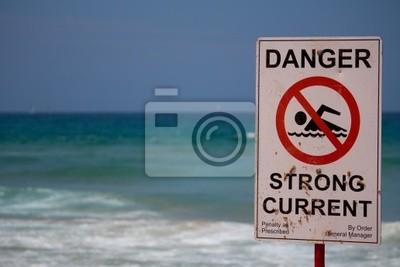 Naklejka Niebezpieczeństwo znak silny prąd