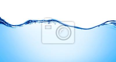 Naklejka niebieska woda fala ciecz rozchlapać bańka napój
