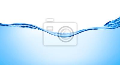 Naklejka niebieska woda fala płyn powitalny napój bąbelkowy