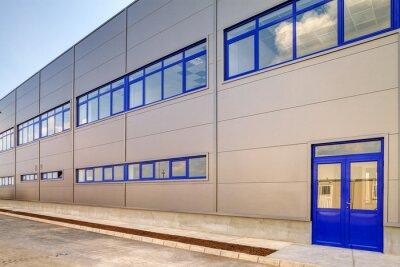 Niebieski aluminium fasady
