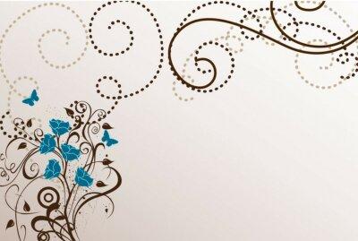 Naklejka niebieski arabeski
