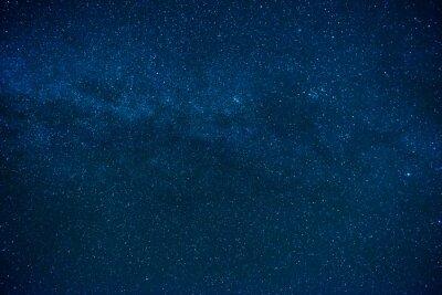 Naklejka Niebieski ciemny nocne niebo z wielu gwiazd
