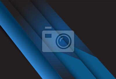 Niebieski gradient geometrycznej tła projektowania materiału pokrywają warstwy ilustracji