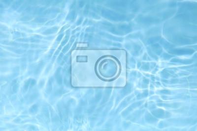 Naklejka niebieski plusk wody tekstury tła