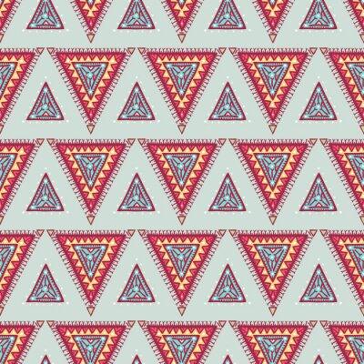 Naklejka niebieskie i różowe trójkąty