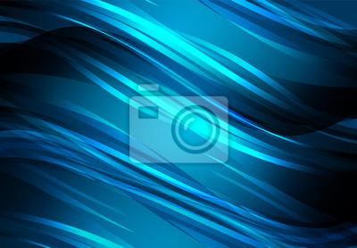 Niebieskie linie streszczenie i łuk świecące tło