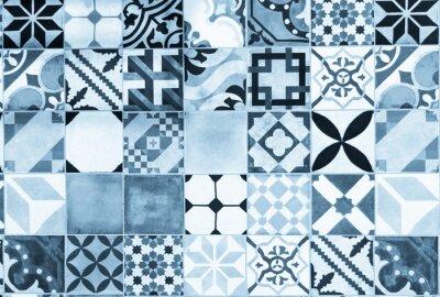 Naklejka Niebieskie portugalskie płytki azulejo