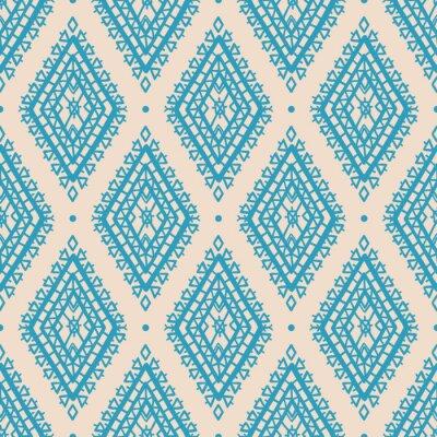 Naklejka niebieskie romby