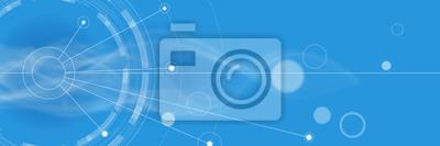 Naklejka Niebieskie tło # grafika wektorowa