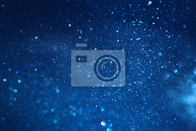 Naklejka niebieskie tło wzór światła świecidełka. nieostre