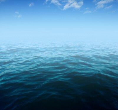 Naklejka Niebieskie wody morskiej