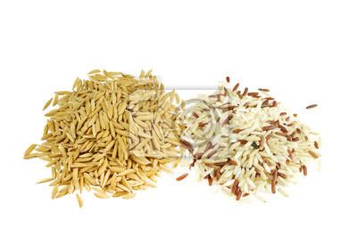 niełuskany ryż brązowy i wymieszać na białym.