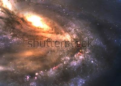 Naklejka Niesamowicie piękna galaktyka spiralna gdzieś w kosmosie