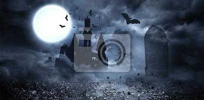 Naklejka Nietoperze latające do Draculas zamku