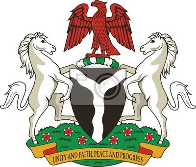Naklejka Nigeria Herb ramienia