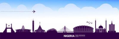 Naklejka Nigeria travel destination grand vector illustration.