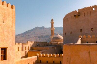 Naklejka Nizwa Fort and Mosque, Nizwa, Oman