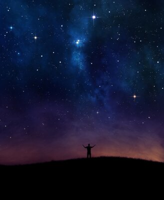 Naklejka Nocne niebo chwalą