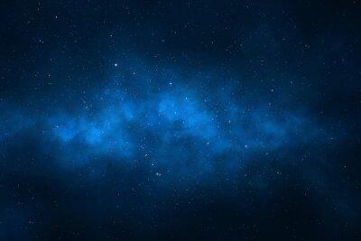 Naklejka Nocne niebo - Wszechświat pełen gwiazd, mgławic i galaktyki