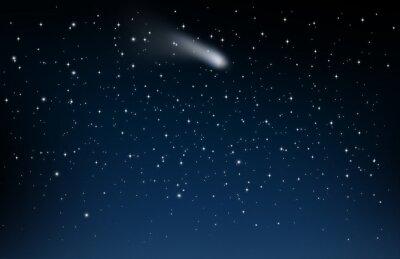 Naklejka Nocne niebo z spadająca gwiazda