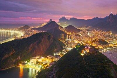 Naklejka Nocny widok z Rio de Janeiro, Brazylia