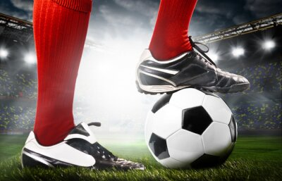 Naklejka nogi piłkarza