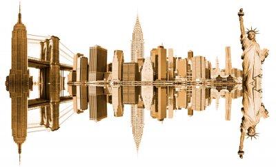 Naklejka Nowe Miejsca Jork, USA. Samodzielnie na białym tle.