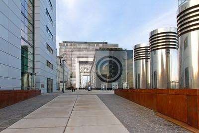 Naklejka Nowoczesna architektura w Kolonii - Zollhafen