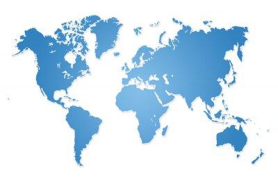 Naklejka Nowoczesne ilustracji mapa świata