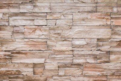 Naklejka Nowoczesne kamień tekstury tle ściany z cegły