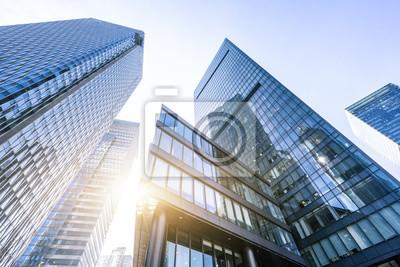 Naklejka nowoczesny budynek biurowy w Szanghaju w Chinach