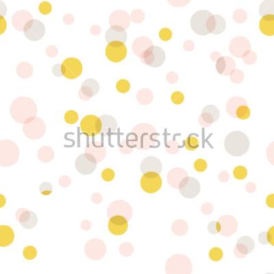 Naklejka Nowożytny Abstrakcjonistyczny Wektorowy Duży confetti tło. Bezszwowy kolorowy kropka wzór.