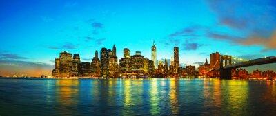 Naklejka Nowy Jork miasta o zachodzie słońca
