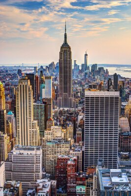 Naklejka Nowy Jork o zmierzchu