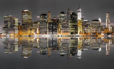 Naklejka Nowy Jork w nocy widok