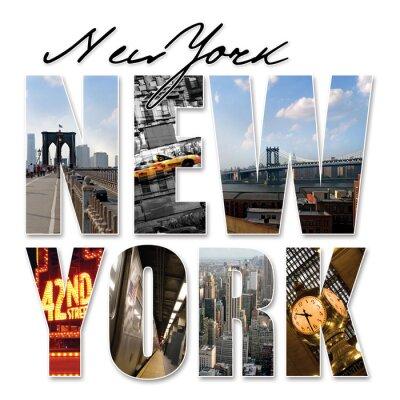 Naklejka NYC New York City Graphic Montage