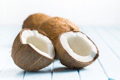 Naklejka o połowę kokos