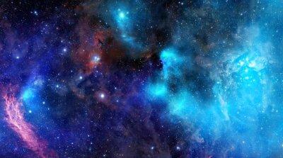 Naklejka obłok gazu mgławica w głębokiej przestrzeni kosmicznej