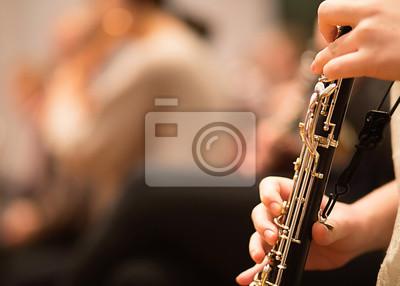 Naklejka Obój w wykonaniu orkiestry symfonicznej