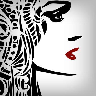 Naklejka Obraz kobieta, tło, Pojęcie mody